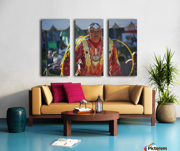 Native American Hoop dance championships 2008 Split Canvas print