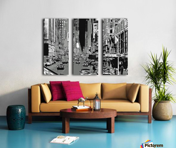 Madison Ave B&W Split Canvas print