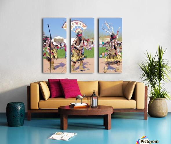 Apache Indian Tribal Ceremony Split Canvas print