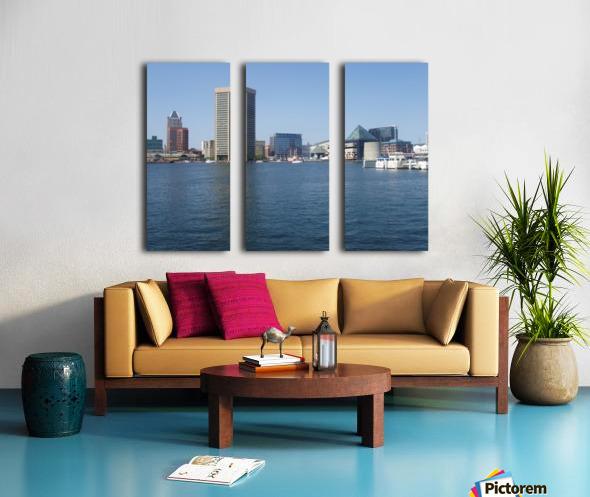 Baltimore Harbour Split Canvas print
