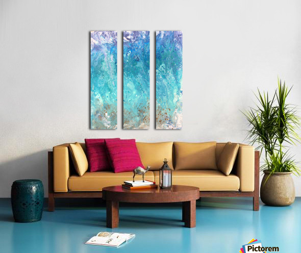Abstract  Wave Painting Split Canvas print