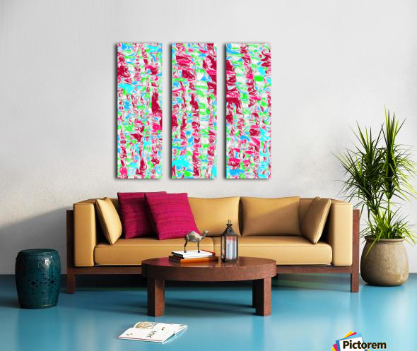 psychedelic painting texture abstract pattern background in pink blue green Split Canvas print