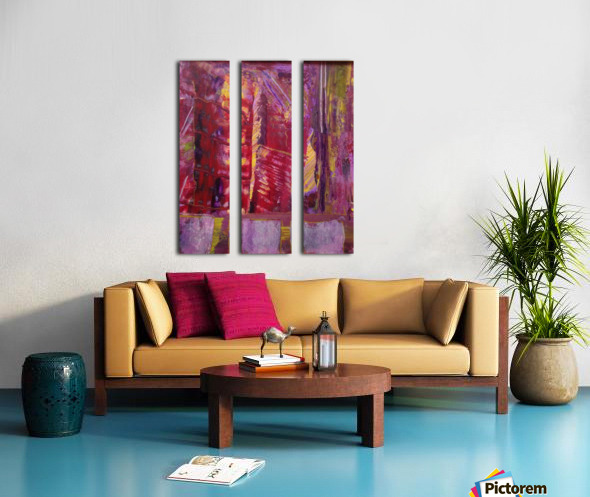 Change is Inevitable Abstract Painting Split Canvas print