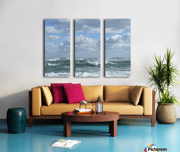 Clouds and Big waves  Newport RI.  Split Canvas print