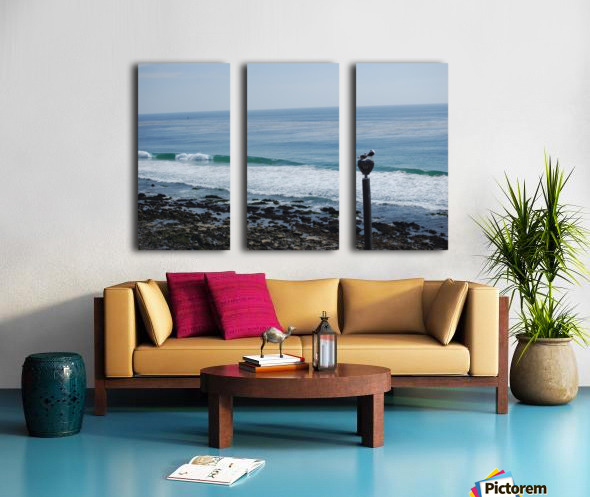 Dana Point Deserted Beach Scene Split Canvas print
