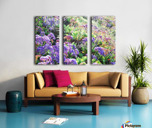 Purple Wild Flowers in Dana Point CA Split Canvas print