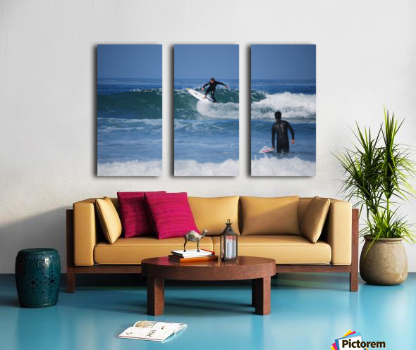 Guy Surfing In California Split Canvas print