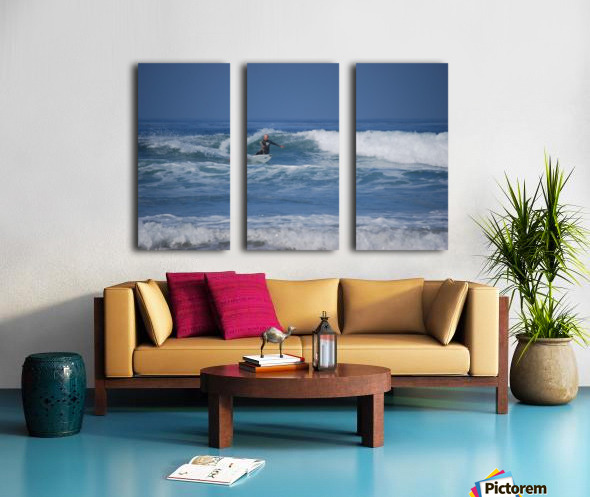 The Lone Surfer Split Canvas print