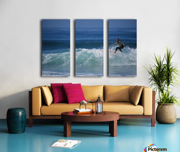 Surfer In California Split Canvas print