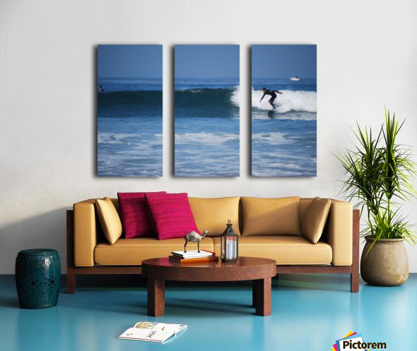 Califonia surfer Split Canvas print
