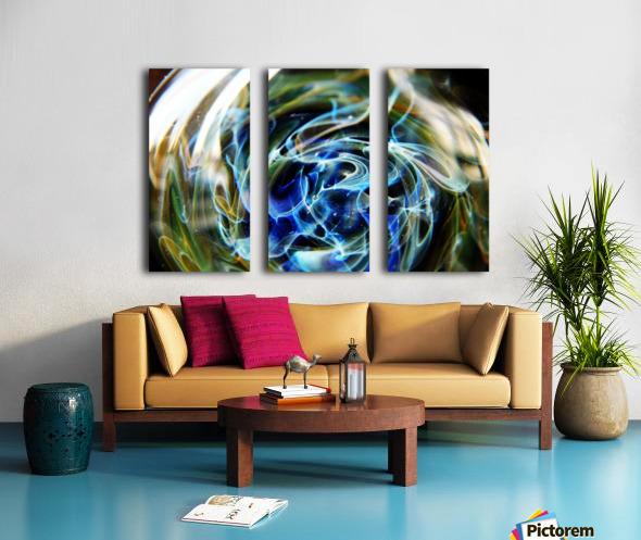 GalaxyInGlassV002 Split Canvas print