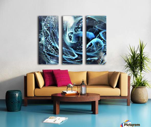 GalaxyInGlassC001 Split Canvas print