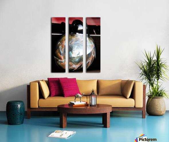 ReflectionInGlassF002 Split Canvas print