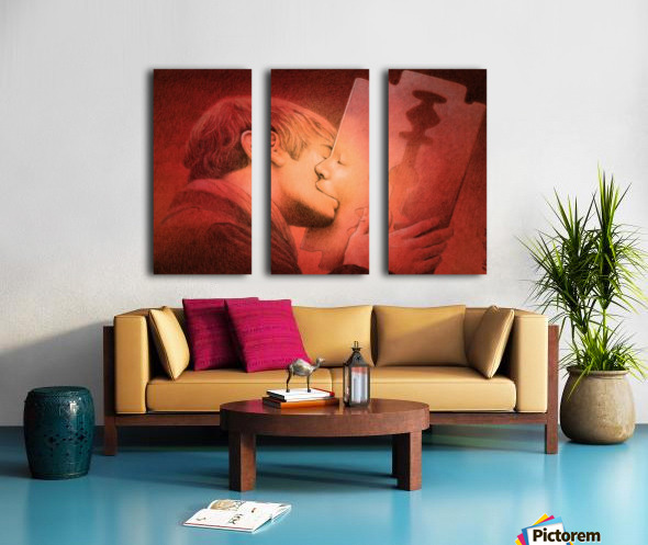 kiss Split Canvas print