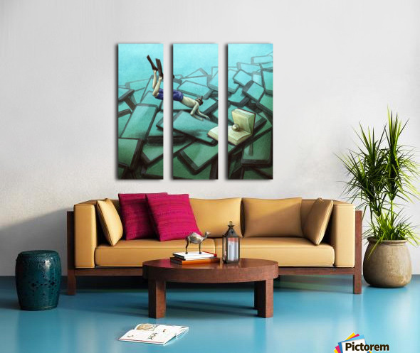 pearl Split Canvas print