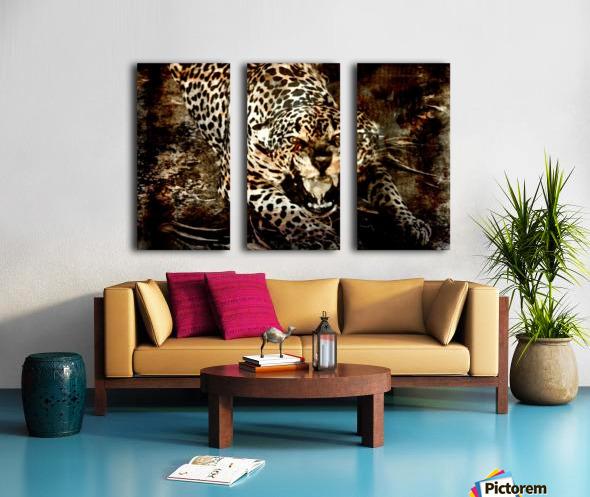 Jaguar Guyana Split Canvas print