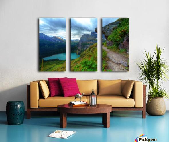 51 -2 Trail to Grinnell Glacier Split Canvas print