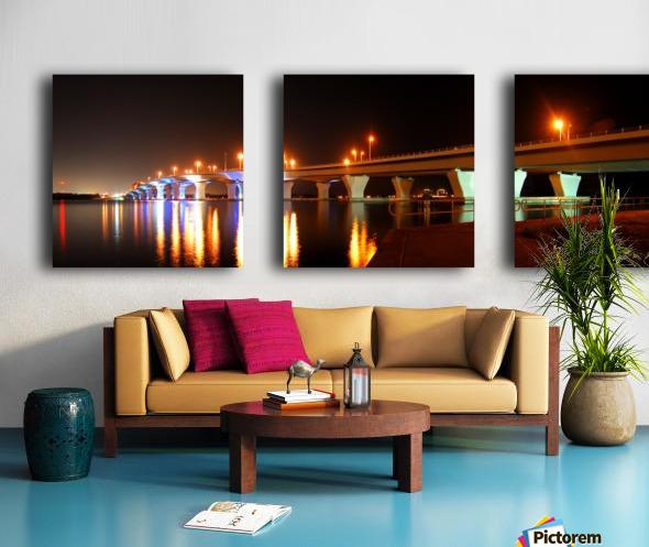 2010 FL 38- Hathaway at Night Split Canvas print