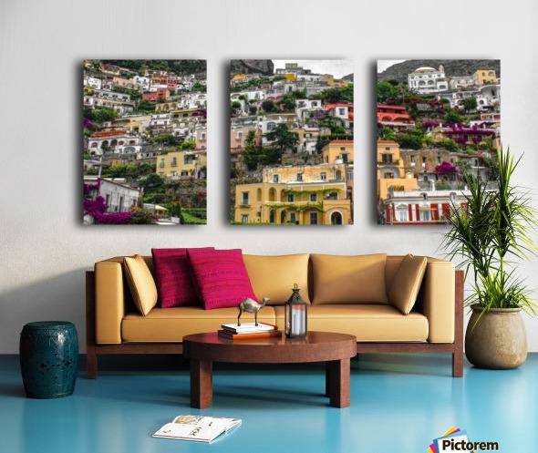Positan village -  colourful houses Split Canvas print