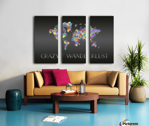 Graphic Art CRAZY WANDERLUST | Splashes Split Canvas print