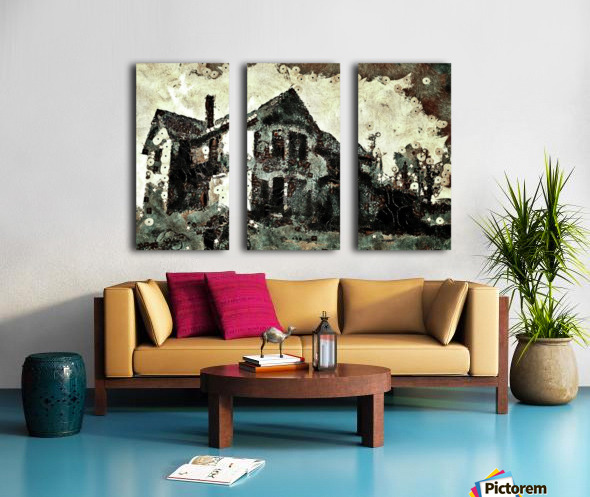 Haunted candy house Split Canvas print