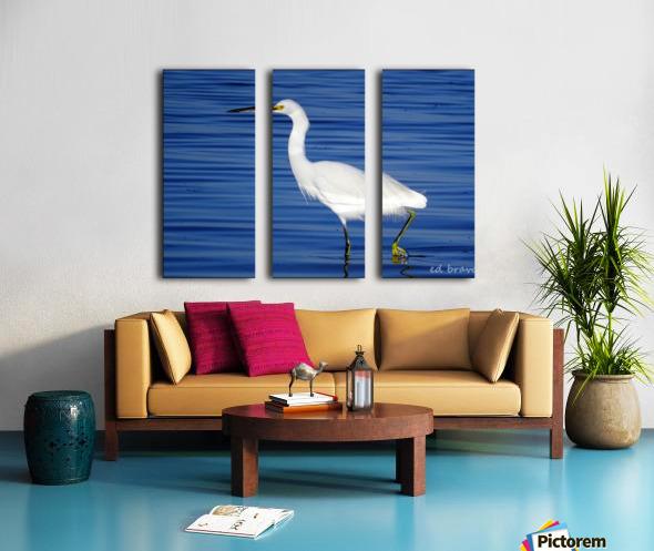 Heron White Walking Split Canvas print