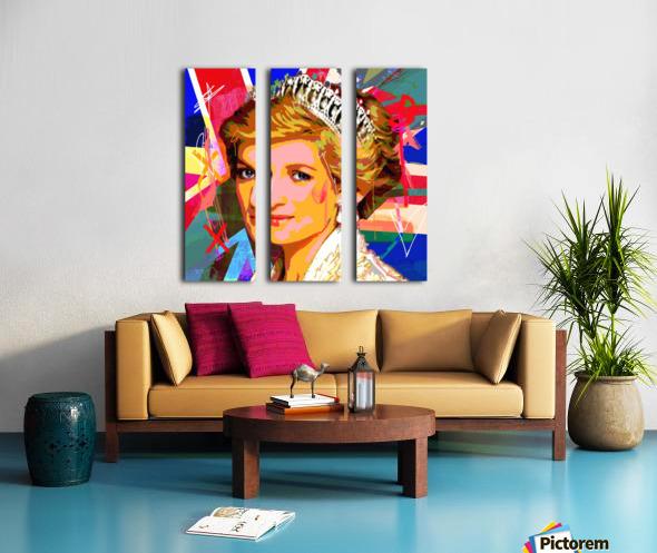 Diana X  Split Canvas print