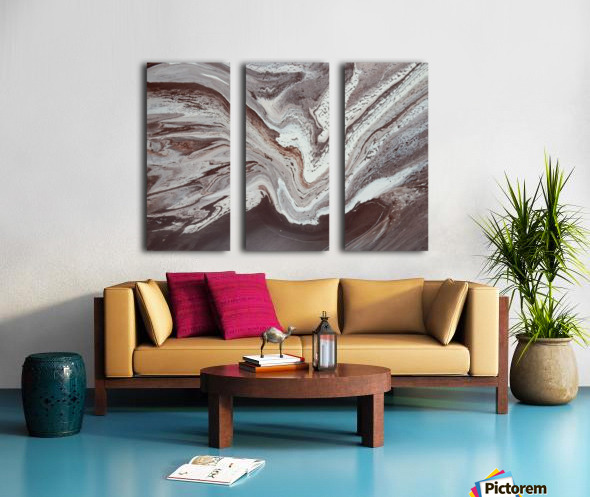 SPRING THAW Split Canvas print