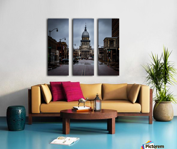 Illinois State Capitol Split Canvas print