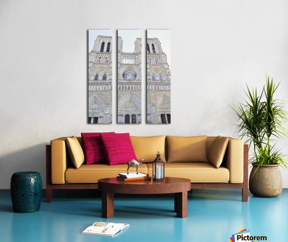 Notre Dame & Details Split Canvas print