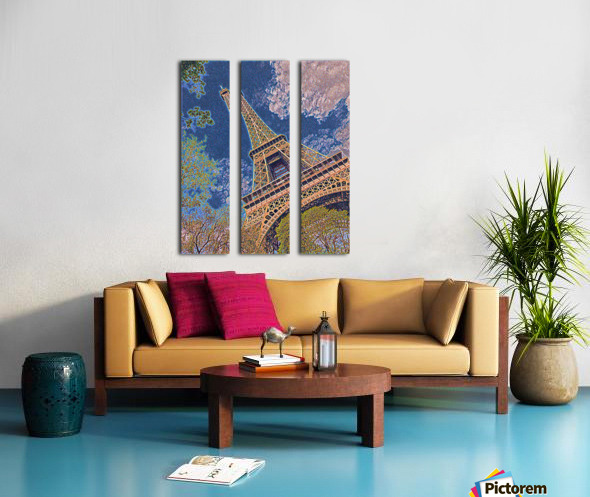 Eiffel Tower- Abstract Split Canvas print