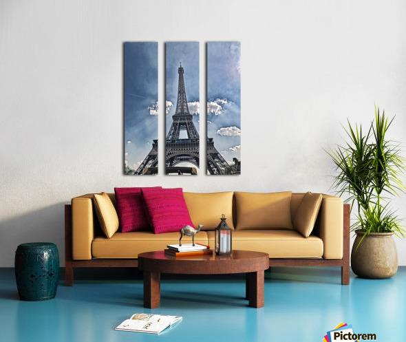 Sky & Eiffel Split Canvas print