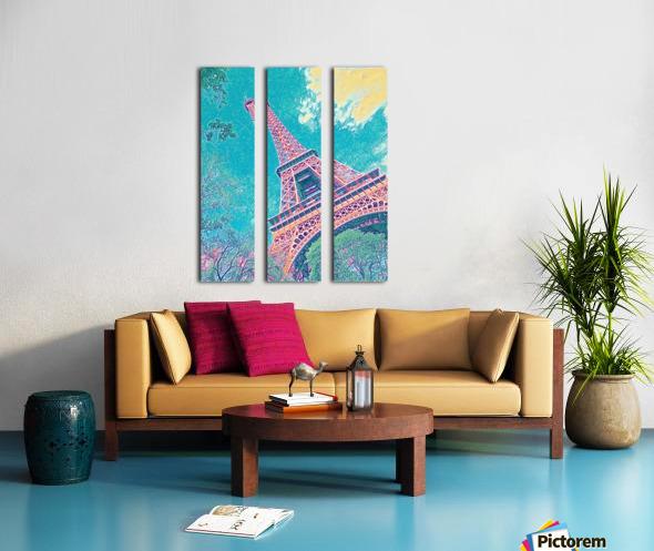 Eiffel Tower- Teal Split Canvas print