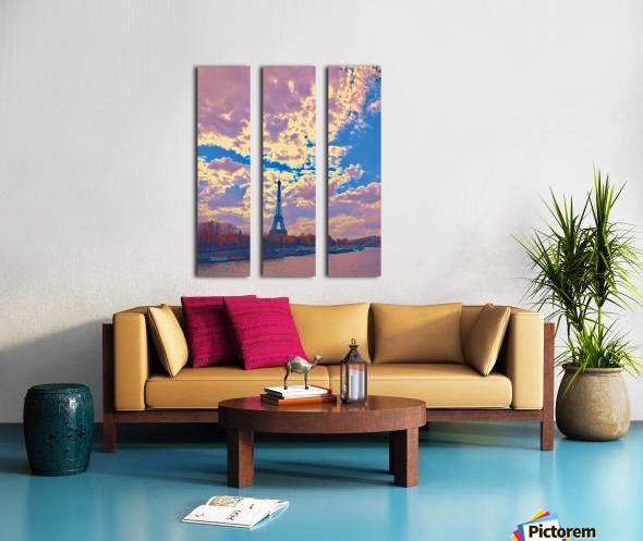 River & Eiffel  Split Canvas print