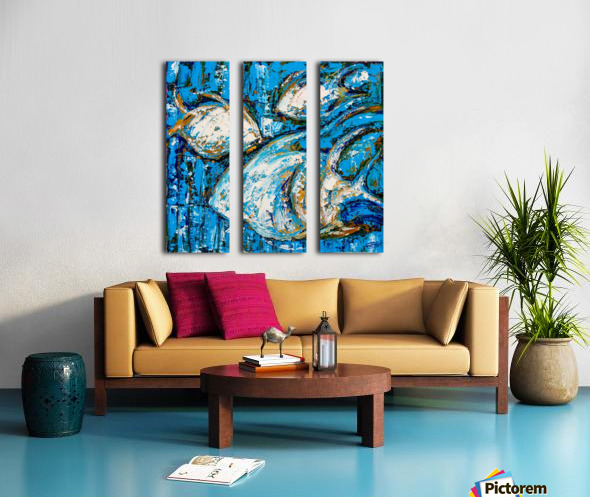 Flow Of Dreams-2 original painting 18 inch x 18 inches Split Canvas print