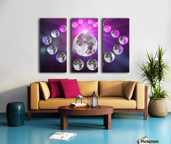Multi-phase Moonlight Split Canvas print