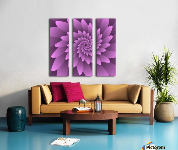 3D Floral Modern Artwork Split Canvas print