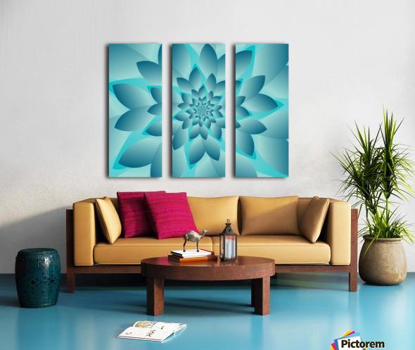 Modern Optical Illusion Floral Art Split Canvas print