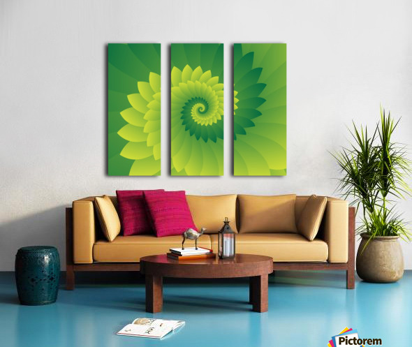 Shiny Greeny Art Split Canvas print