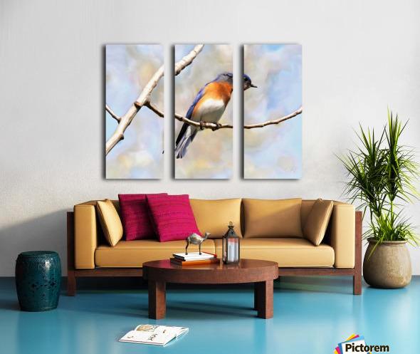 Blue Bird Split Canvas print