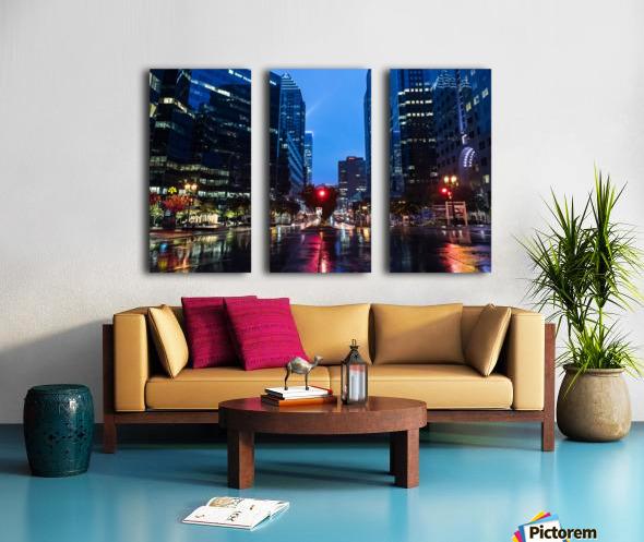 Pluie au centre ville Split Canvas print