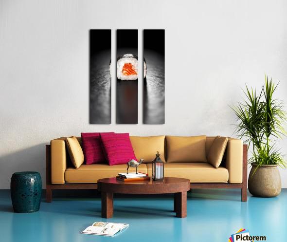 Maki Sushi Roll with Salmon Split Canvas print