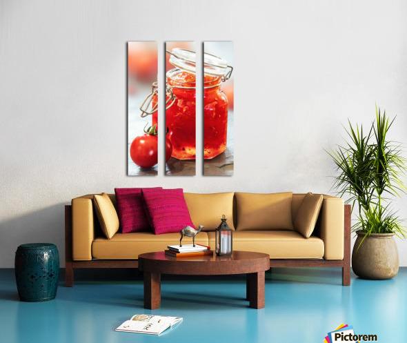 Tomato Jam in Glass Jar Split Canvas print