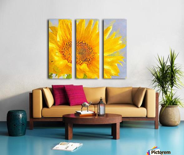 Love You Split Canvas print