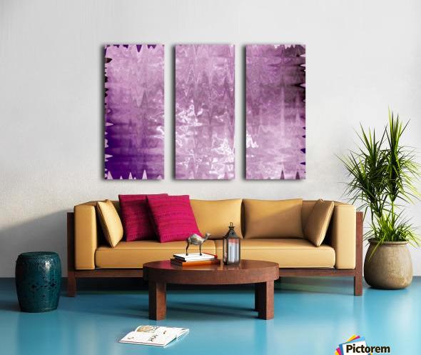 PurplePassion Wave Split Canvas print