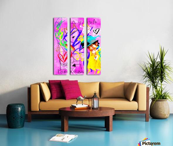 The World We Created Split Canvas print
