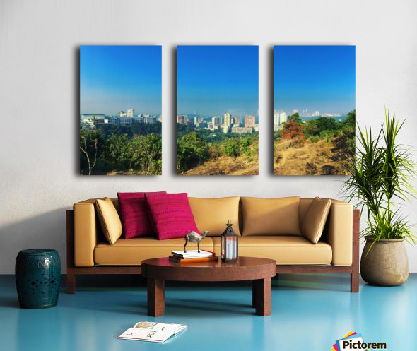 To the City Split Canvas print
