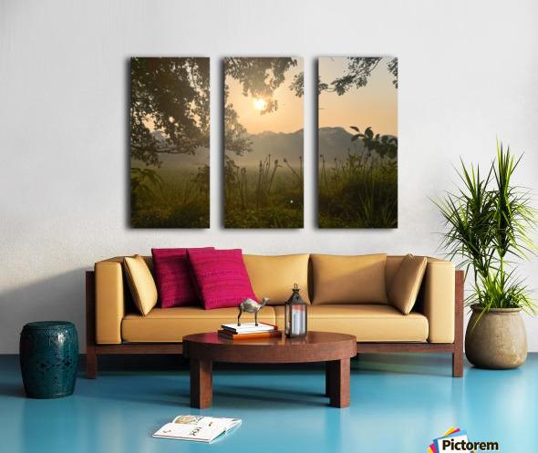 Positive Vibes Split Canvas print