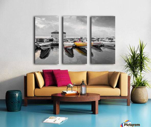 Cigarette Boats Split Canvas print