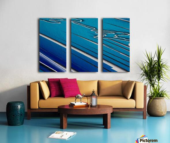 Diagonally Blue Split Canvas print